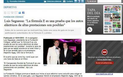 Luis Seguessa «La Formula E es una prueba que los autos eléctricos de altas prestaciones son posibles».