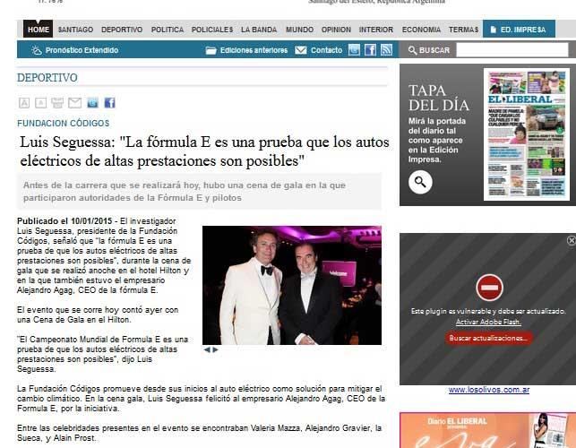 """Luis Seguessa """"La Formula E es una prueba que los autos eléctricos de altas prestaciones son posibles"""""""