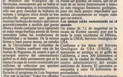 Confirman que la extracción de petróleo provoca terremotos