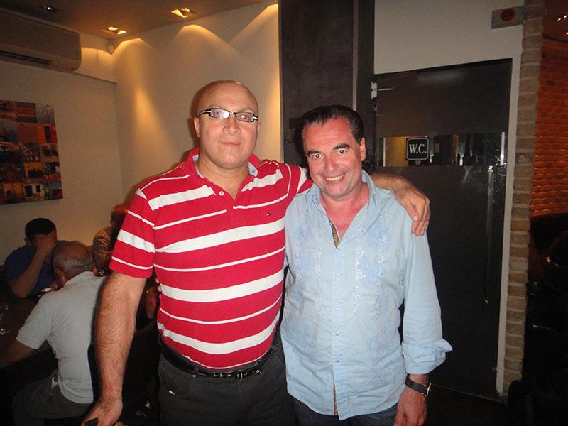 Benjamin-Gad Ninnayi, , Director, Hosting Operations Dept. Ministry of Tourism Israel y Luis Seguessa en Israel