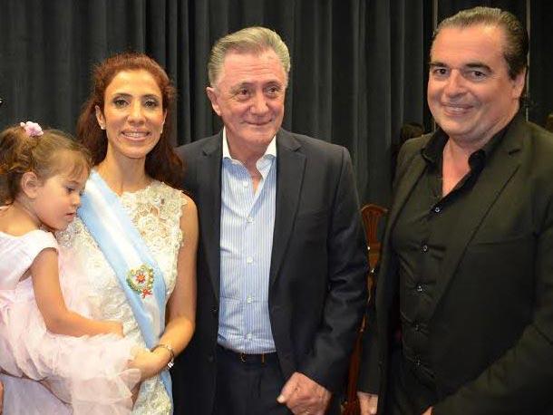 Clauda Zamora, Lucho Aviles y Luis Seguessa