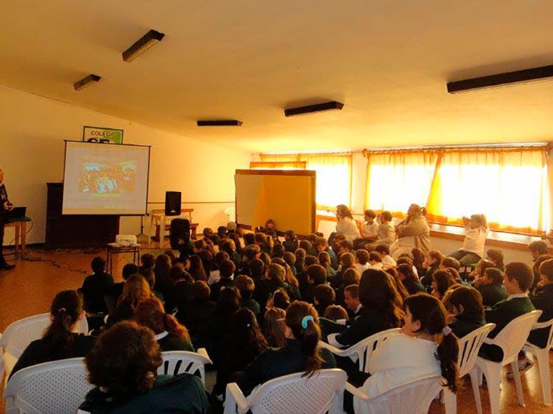 Conferencia en Escuela de Maldonado, Uruguay, 2012