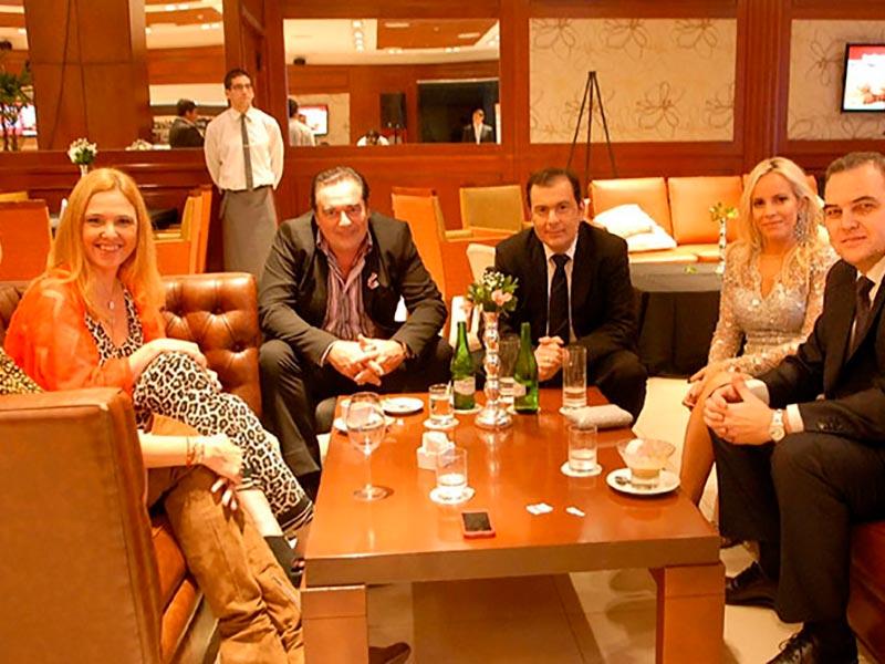 Dolores Barrerio, Silvina Luna, Luis Seguessa, el presidente provisional del senado Gerardo Zamora, Waldina Rigourd y Gustavo Ick