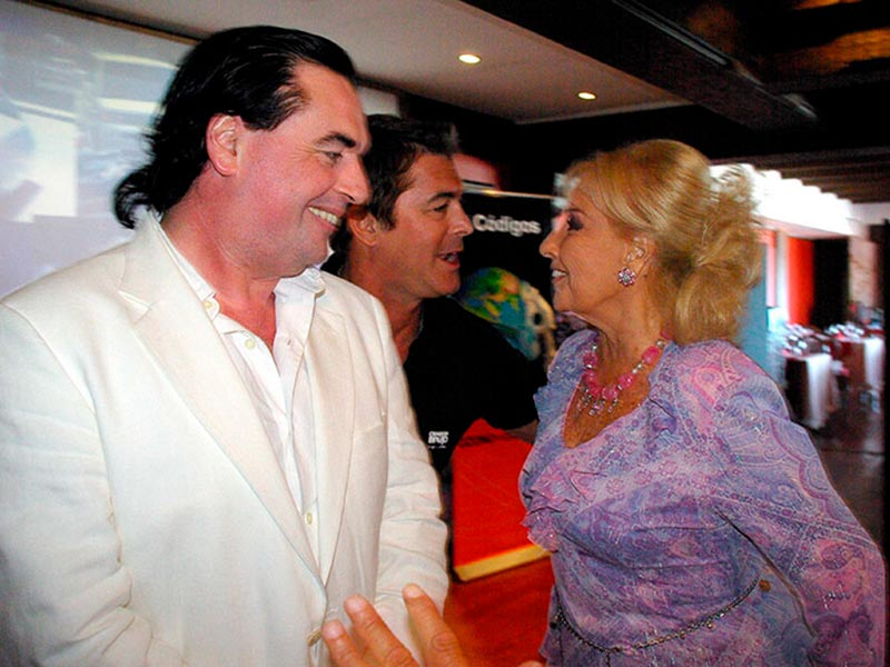 Gabriel Corrado, Luis Seguessa y Mirtha Legrand