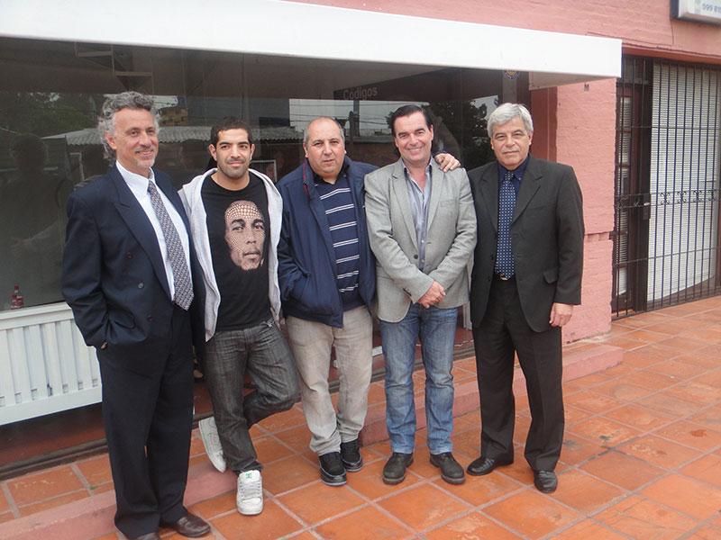 Jose Lefose, Javier Rojas, Oscar Valdez, Luis Seguessa y Milton Santana en Fundacion Codigos Punta del Este