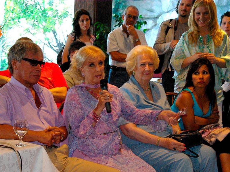 La conductora de TV Mirtha Legrand en la conferencia alerta global de la fundacion codigos en Mar del Plata