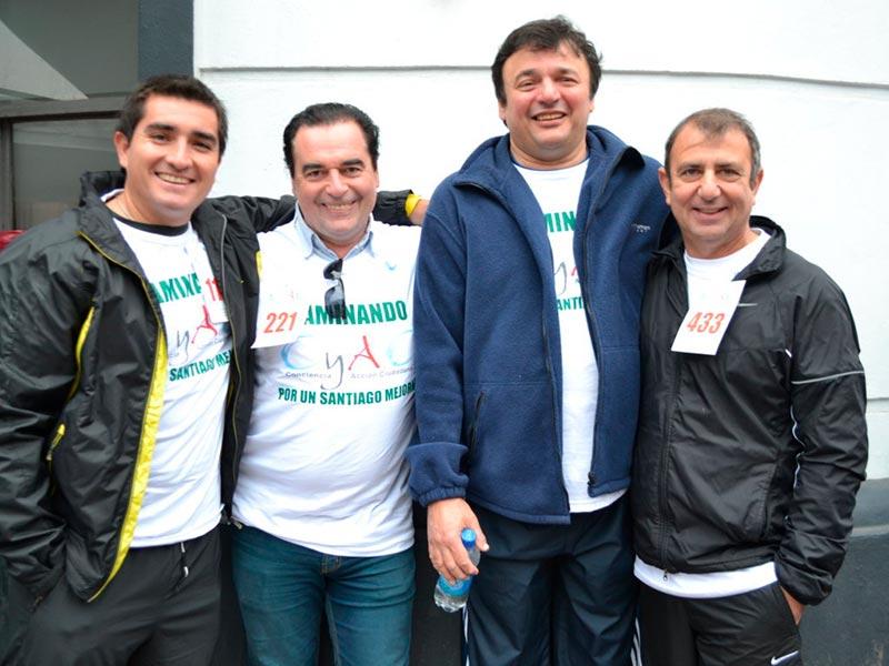 Luis Seguessa con el ministro Atilio Chara y Federico Orellana