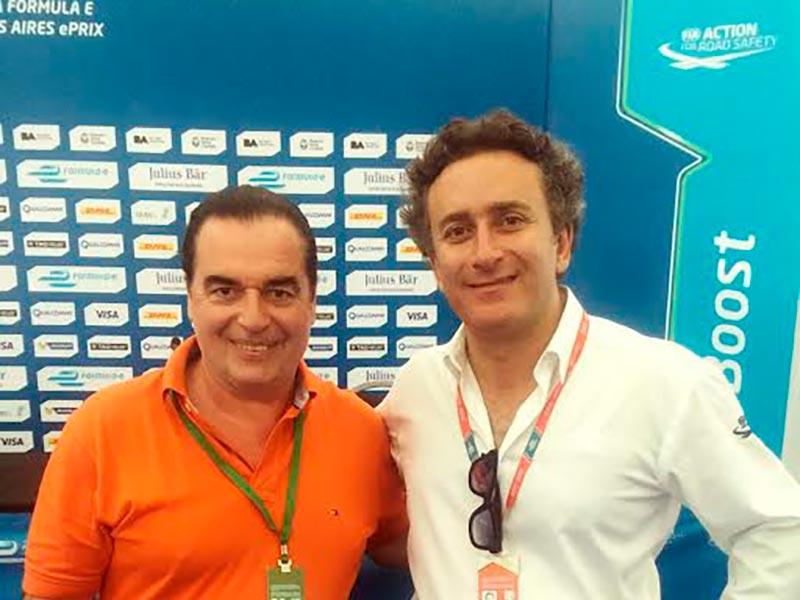 Luis Seguessa y Alejandro Agag en la Formula E