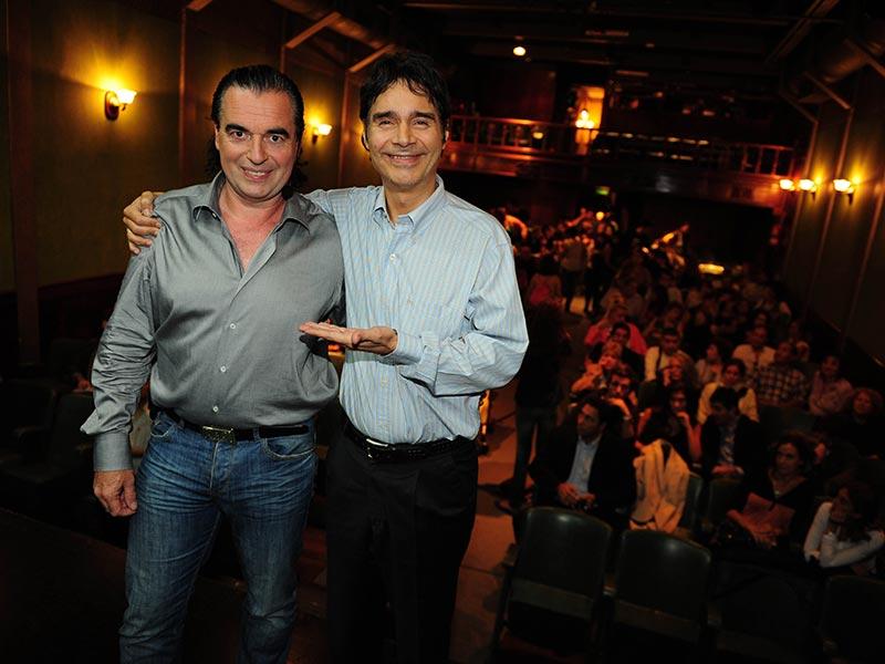 Luis Seguessa y Claudio María Dominguez en La Casona