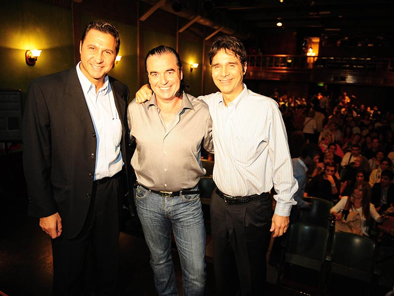 Miguel Habud, Luis Seguessa y Claudio Maria Dominguez