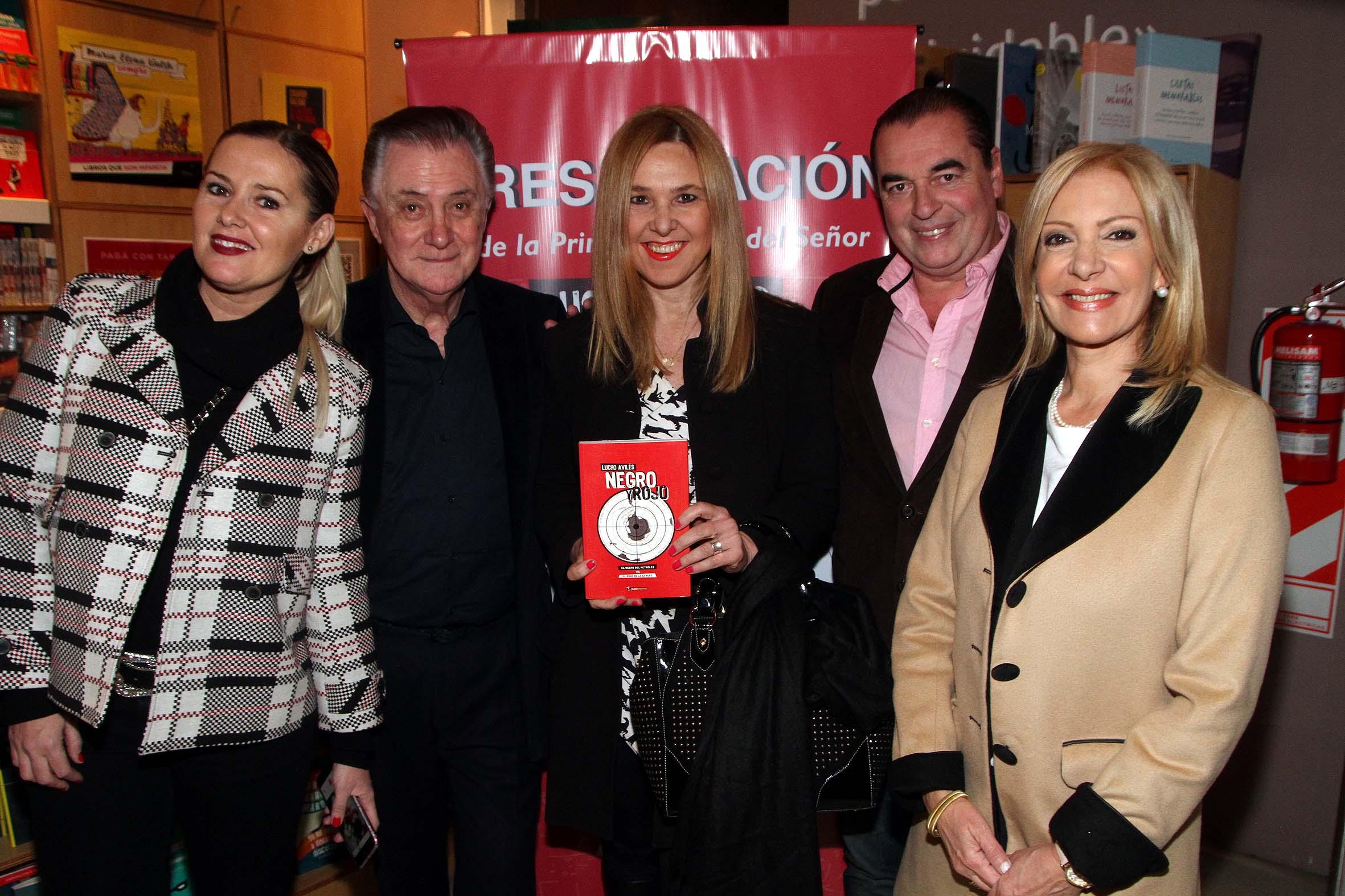 Pilar Smith, Lucho Aviles, Silvina Luna, Luis Seguessa y Susana Roccasalvo