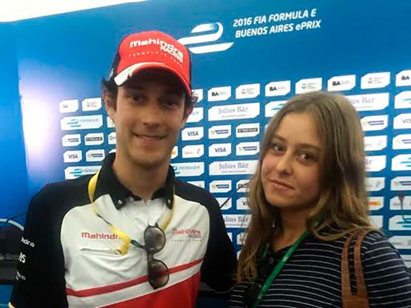 Sofia Vago Luna entrevistando a Bruno Senna en la Formula E